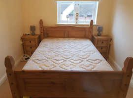 Corona mexican pine double bed