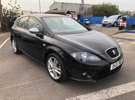 Seat Leon, 2010 (10) Black Hatchback, Manual Diesel, 109,000 miles