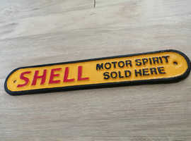 Father's day SHELL motor spirit cast iron sign hand cast