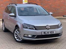 Volkswagen Passat, 2014 (14) Silver Estate, 1.6L, Manual Diesel, 51,976 miles
