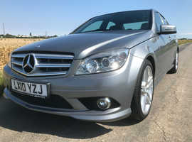 Mercedes C CLASS, 2010 (10) silver saloon, Automatic Diesel, 63,000 miles