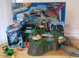 Thunderbirds old and new Tracey Island