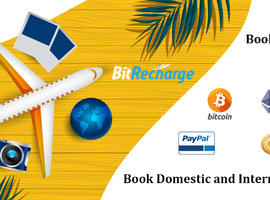 BITRECHARGE- One for all cryptocurrency travel booking.
