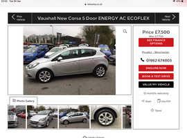 Vauxhall Corsa, 2016 (16) Silver Hatchback, Manual Petrol, 35,600 miles