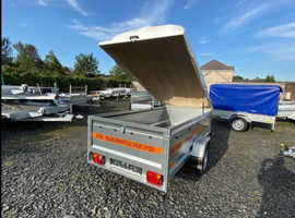 BRAND NEW MODEL 8.7x4.2 SINGLE AXLE TRAILER 52CM SIDE WITH HARD TOP ABS