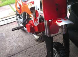 50cc, runs sweet, working , pull start new engine  and plastics