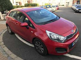 Kia Rio, 2014 (63) Red Hatchback, Manual Petrol, 109,400 miles