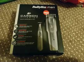 Babyliss titanium carbon hair clippers set