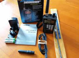 Uniden Bearcat UBC125XLT 500 Channel Handheld Scanner + W-881 wideband antenna