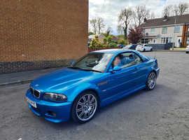 BMW 3 Series, 2003 (03) blue Convertible, Manual Petrol, 118,800 miles