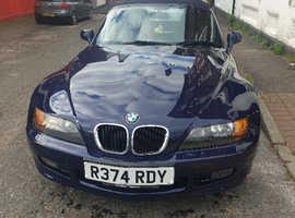 BMW Z3, 1998 (R) Blue Convertible, Manual Petrol, 102,450 miles