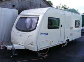 2007 Avondale Godiva 525, 4 berth fixed bed caravan, many free extras