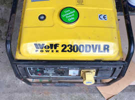 Generator Wolf 2300 DVLR  220V AND 110 V REDUCED FOR QUICK SALE.