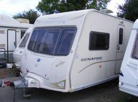 2008 Bailey Senator Wyoming, fixed bed, 4 berth, twin axle caravan, ready to use