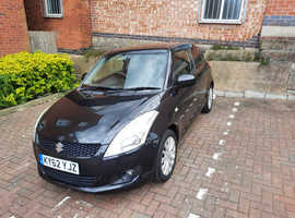 Suzuki Swift, 2012 (62) Black Hatchback, Manual Petrol, 51,200 miles