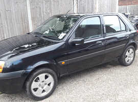 Ford Fiesta, 2002 (02) Black Hatchback, Manual Petrol, 63,000 miles