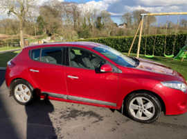 Renault Megane, 2010 (10) Red Hatchback, Manual Diesel, 96,000 miles