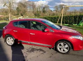 Renault Megane, 2010 (10) Red Hatchback, Manual Diesel, 96,000 miles