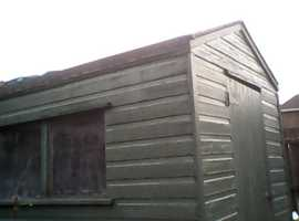 Shed for taking away