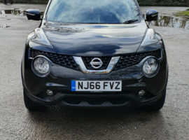Nissan Juke, 2016 (66) Black Hatchback, Manual Diesel, 31,700 miles