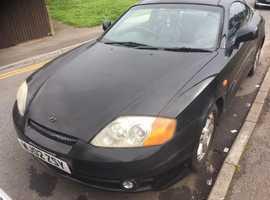 Hyundai Coupe, 2002 (02) Black Coupe, Manual Petrol, 108,000 miles