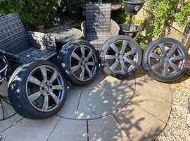"Excellent grey 17"" alloy wheels (4x100size)"
