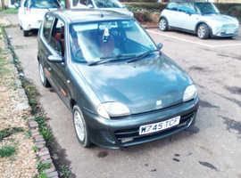 Fiat Seicento, 2000 (W) Grey Hatchback, Manual Petrol, 80,000 miles