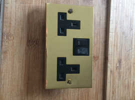 Brass plug and light switch's