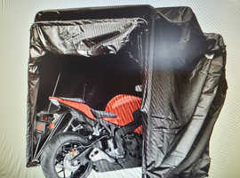 Motorcycle Cover Shelter Storage Waterproof Motorbike Storage Tent Black Motorcycle Shelter Shed  & Carry. Bag.