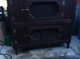 DOUBLE FERRET HUTCH VERY GOOD CONDITION STRONG AND HEAVY