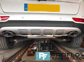 Proflow Exhausts Stainless Steel Back Box with Dual Exit Custom Exhaust for Kia