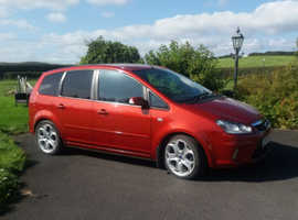 Ford C-Max, 2008 (58) Red MPV, Manual Diesel, 64,000 miles