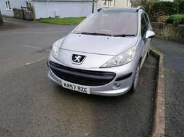 Peugeot 207, 2007 (57) Silver Estate, Manual Petrol, 103,861 miles