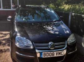 Volkswagen Golf, 2008 (08) Black Estate, Manual Petrol, 110,517 miles