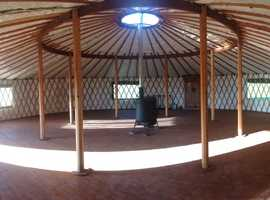 40 ft Yurt by Wildwood Yurts of Cumbria.