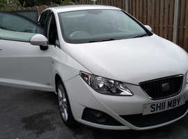 Seat Ibiza, 2011 (11) White Hatchback, Manual Petrol, 62,000 miles