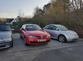 Nissan Almera, 2003 (53) Red Hatchback, Manual Petrol, 116,000 miles