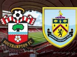 2 seats for Southampton vs Burnley