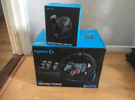 PS4 Logitech G29 Steering Wheel, Pedals, Gear Shifter & Stand