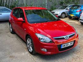 Hyundai i30, 2009 (59) Red Hatchback, Manual Petrol, 82,503 miles