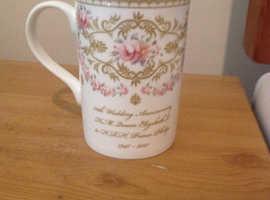 Royal Worcester 70 year anniversary mug