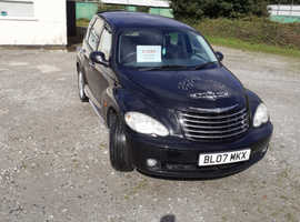 Chrysler Pt Cruiser, 2007 (07) Black Hatchback, Manual Petrol, 91,000 miles