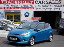 Ford Fiesta, 2009 (09) Blue Hatchback, Manual Petrol, 86,733 miles zetec s