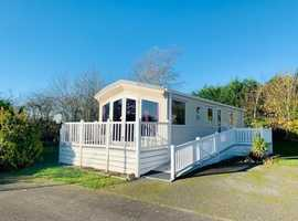 Static Caravan - Decking, Ramp, Fully Furnished with Patio Doors and Central Heating