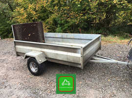 7x4 SINGLE AXLE TRAILER 750kg IDEAL QUADS, LED LIGHTS,WIDE WHEELS, RAMP, NO TRAILER LICENSE NEEDED