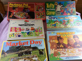Six board games from 1980,s