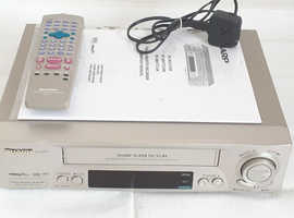 SHARP VC-M321HM Video Cassette Recorder VHS Player VCR Silver Tested & Remote