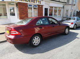Mercedes C CLASS, 2003 (03) Red Saloon, Automatic Petrol, 65,600 miles