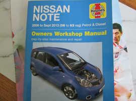 Nissan Note Haynes Manual