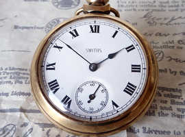 Vintage Smiths Gold Plated Pocket Watch c1960's.
